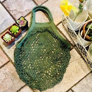 Handbags - 🆕🆕 ♻️FRENCH MARKET-SHORT HANDLE COTTON NET BAG♻️